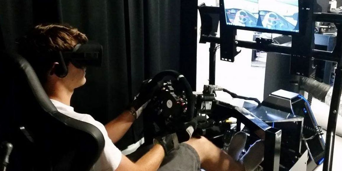 First Test of the New Oculus CV1 with iRacing